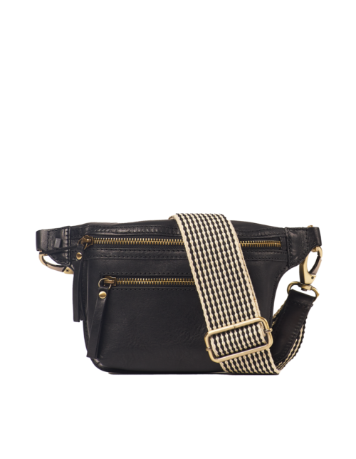 BECK'S Bum Bag Black Stromboli Leather