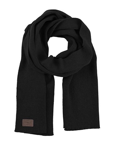 Rib scarf Black