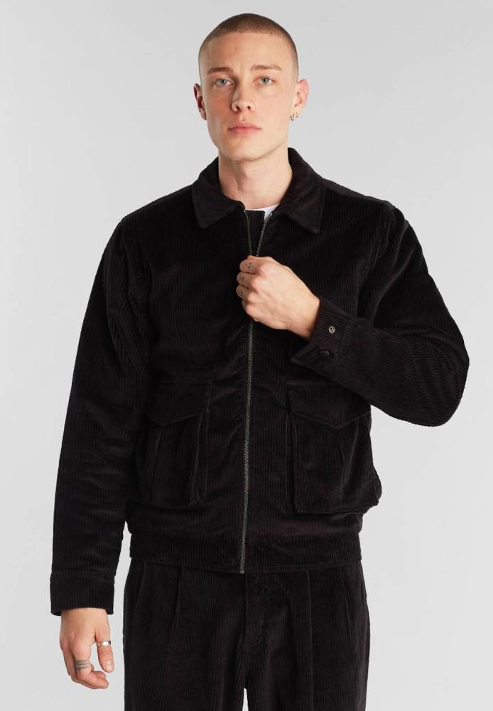 Padded Jacket Vallentuna Corduroy Black