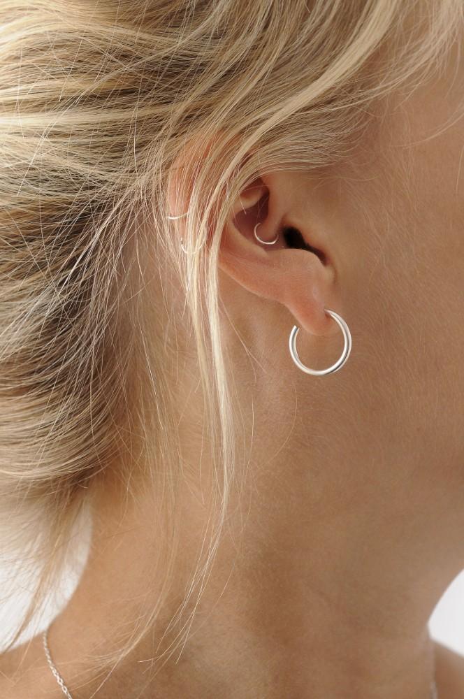 Simple Silver Small Hoop Earrings