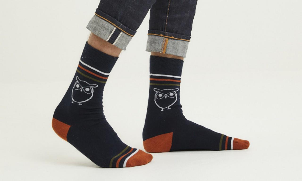 LINDEN 2-pack owl socks Total Eclipse
