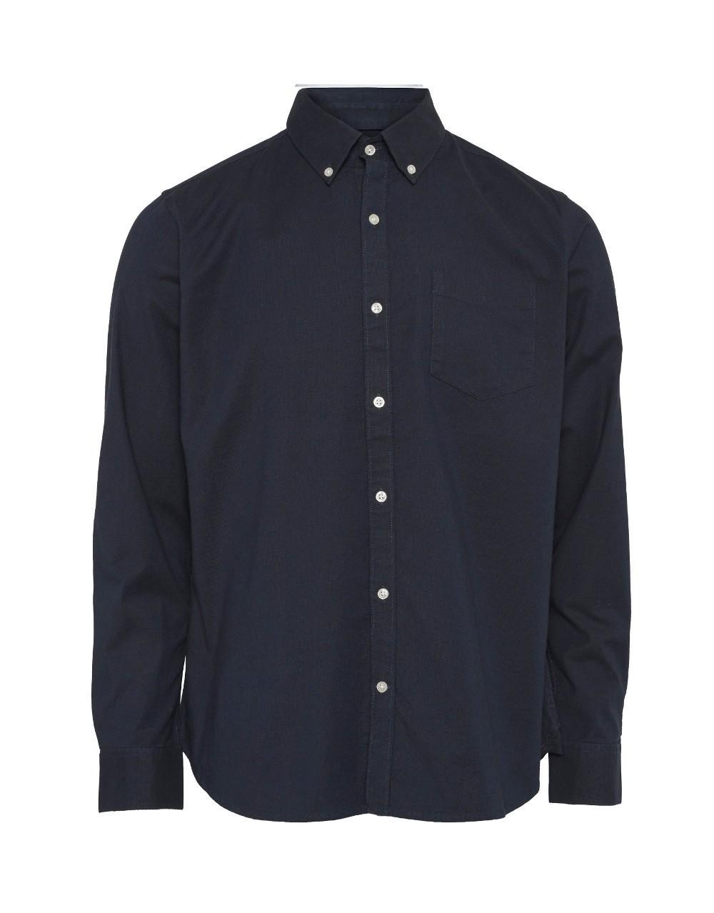 ELDER Regular fit Stretch Oxford Shirt - Vegan Total Eclipse