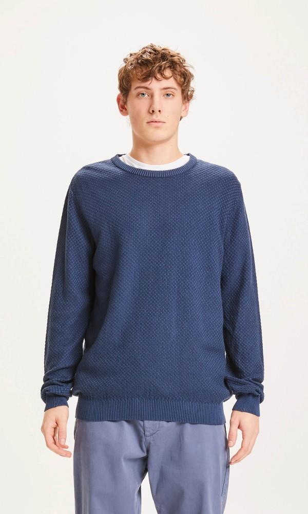 FIELD structured basic knit Dark Denim