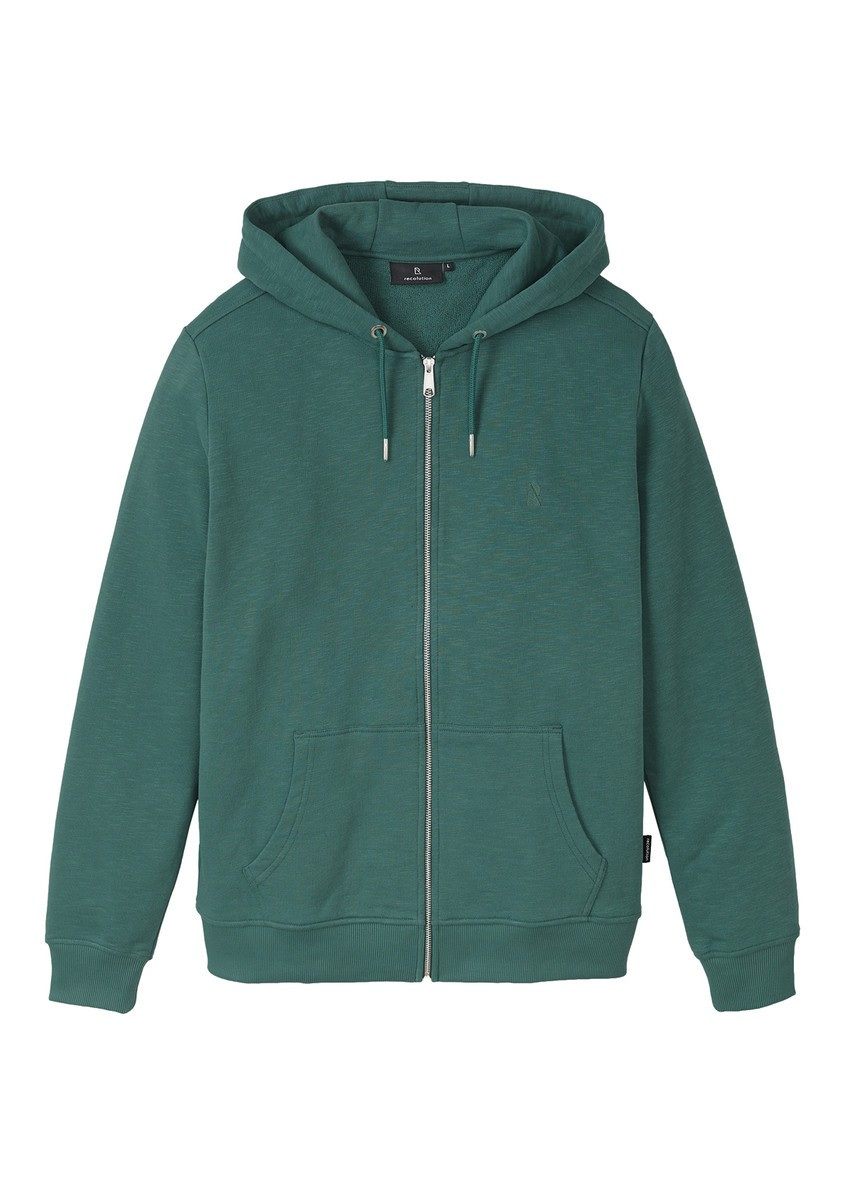 Basic Sweatjacket eukalyptus green