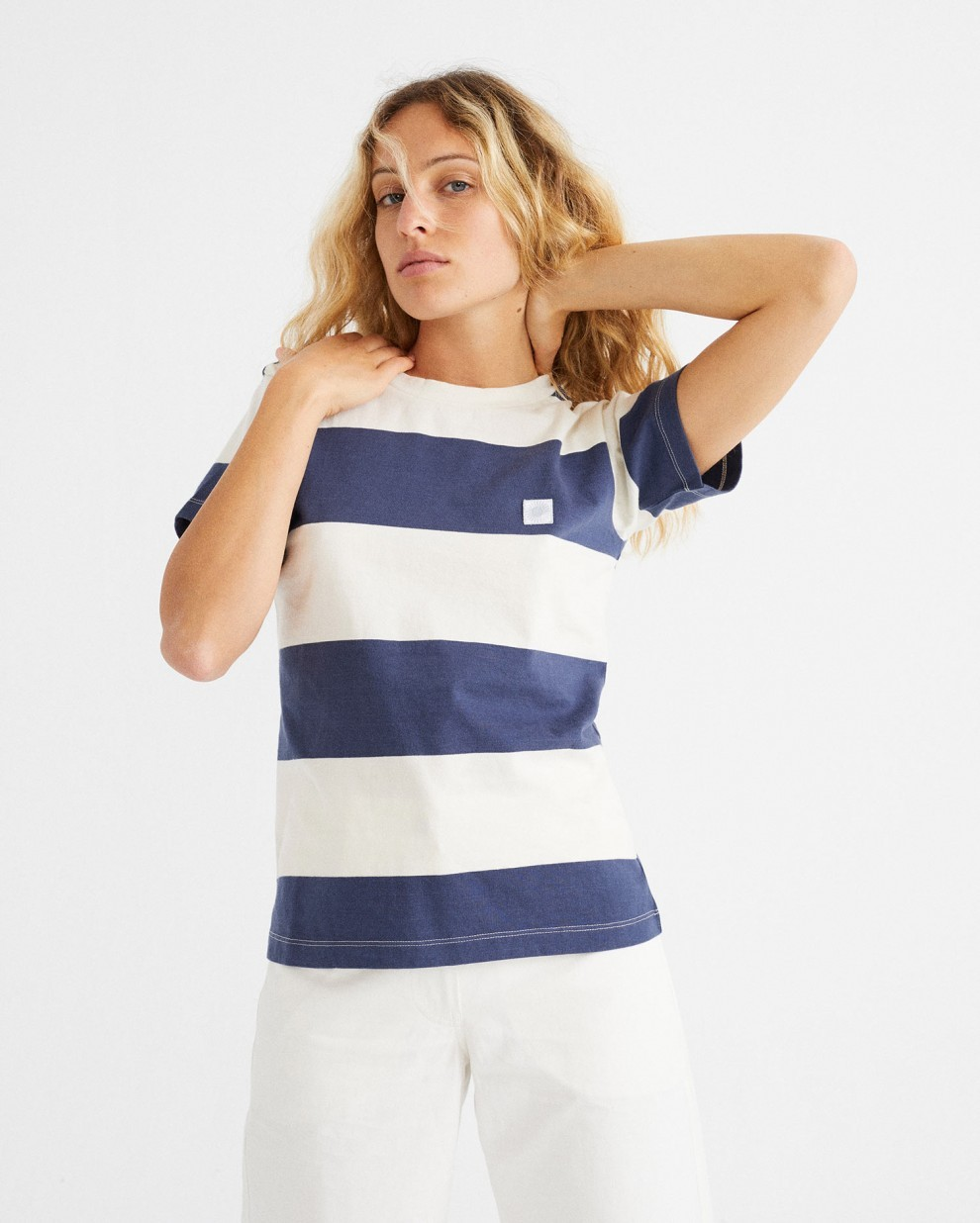 WOMANS NAVY STRIPES T-SHIRT