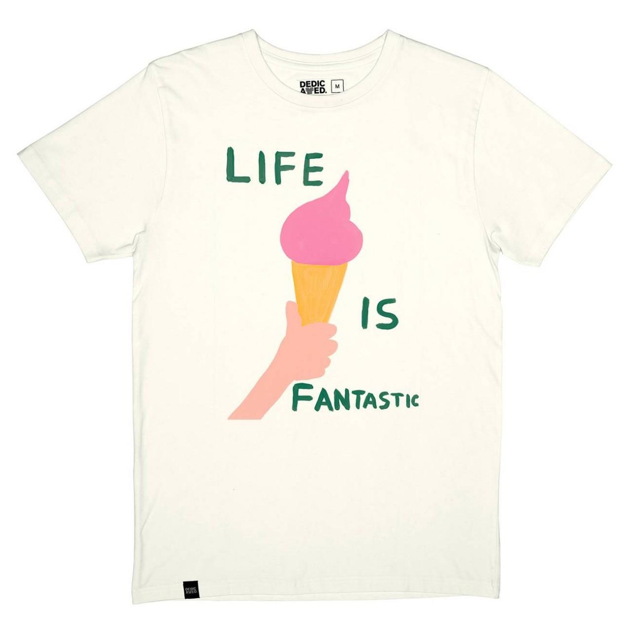 T-shirt Stockholm Life Is Fantastic Off-White