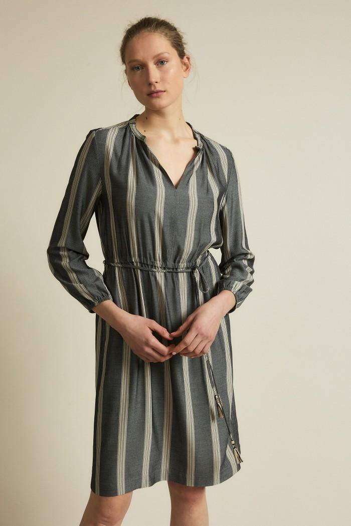 Kleid mit Streifen Onyx