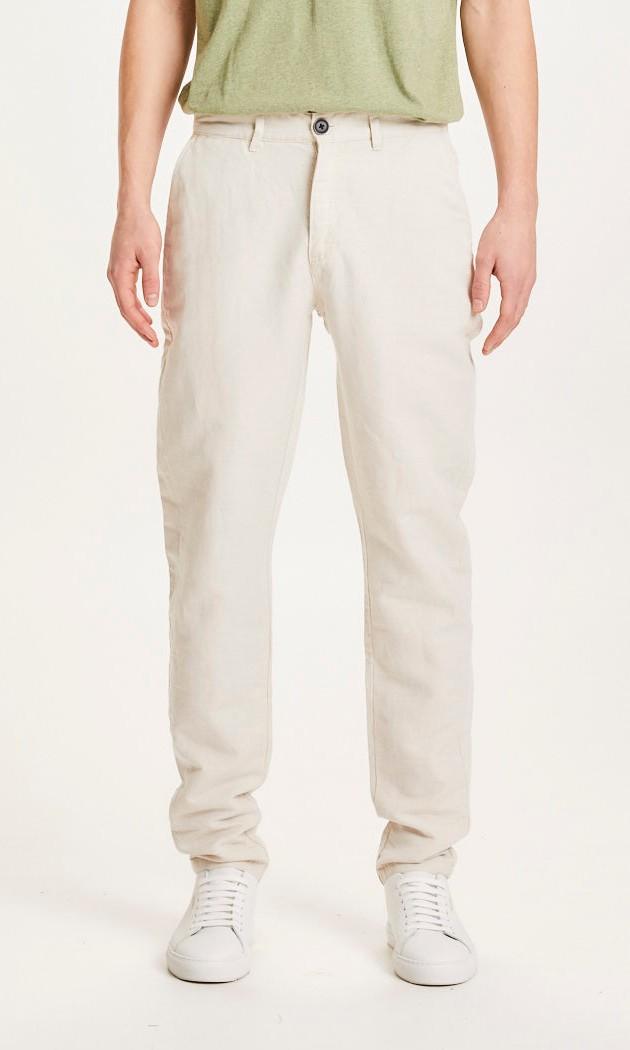 CHUCK light linen pants - OCS/Vegan Light feather gray