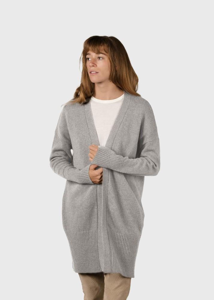 Rosemarie knit cardigan Pastel grey