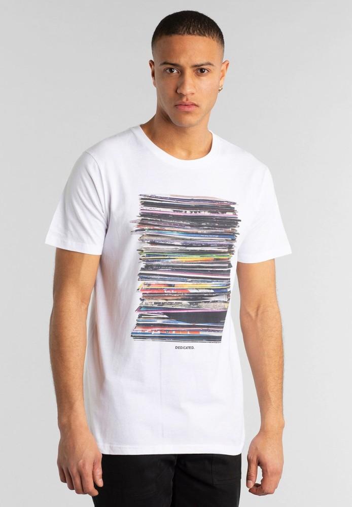 T-shirt Stockholm Vinyl Retro White