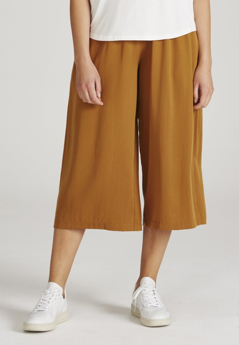 Anna Trousers Rubber Brown