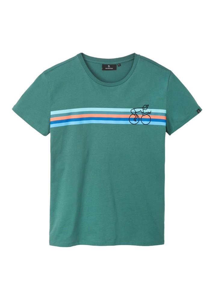 Casual T-Shirt #BIKESTRIPE eukalyptus green