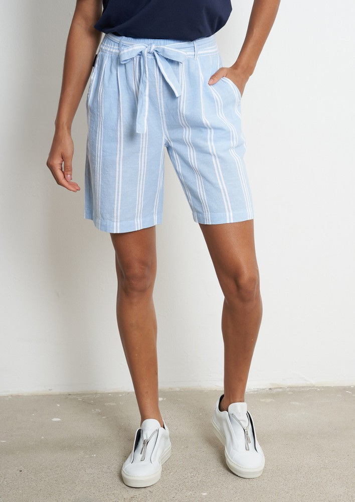 Shorts #STRIPES dusk blue / white