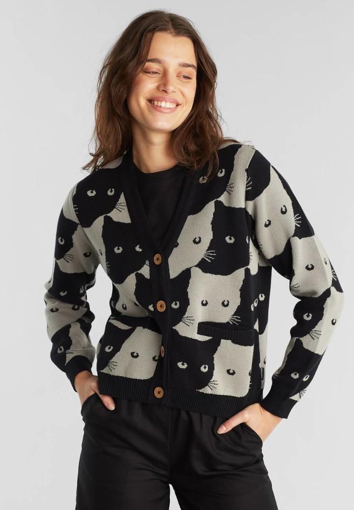 Cardigan Iggesund Cats Grey