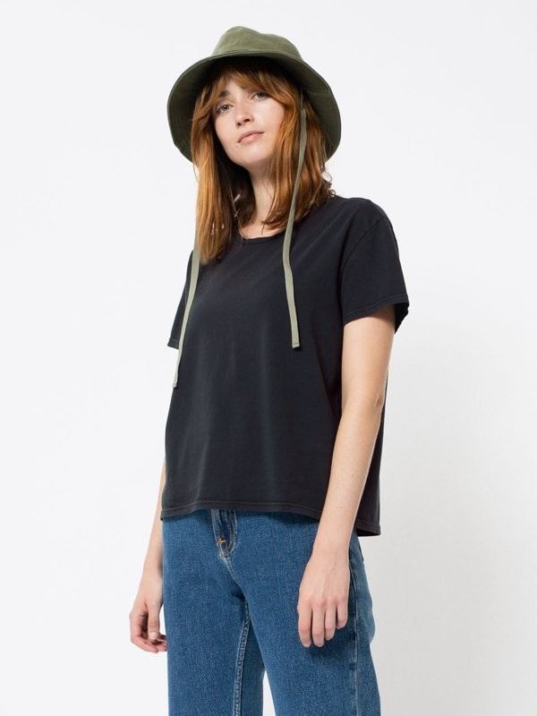 Lisa Cropped Tee Antracite