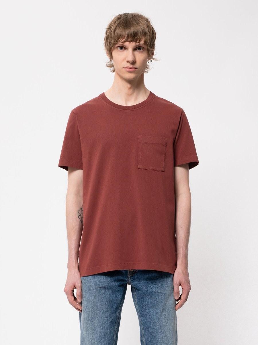 Roy One Pocket Tee Brick Red