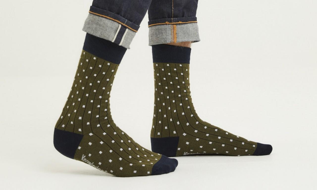 LINDEN 2-pack dot socks Forrest Night