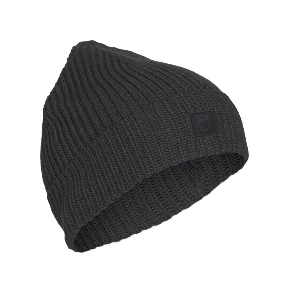 LEAF ribbing hat - Vegan Dark Grey Melange