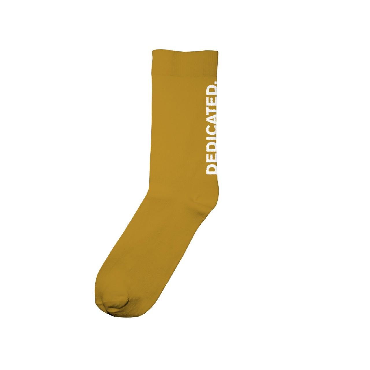 Socks Sigtuna Dedicated Logo Golden Yellow
