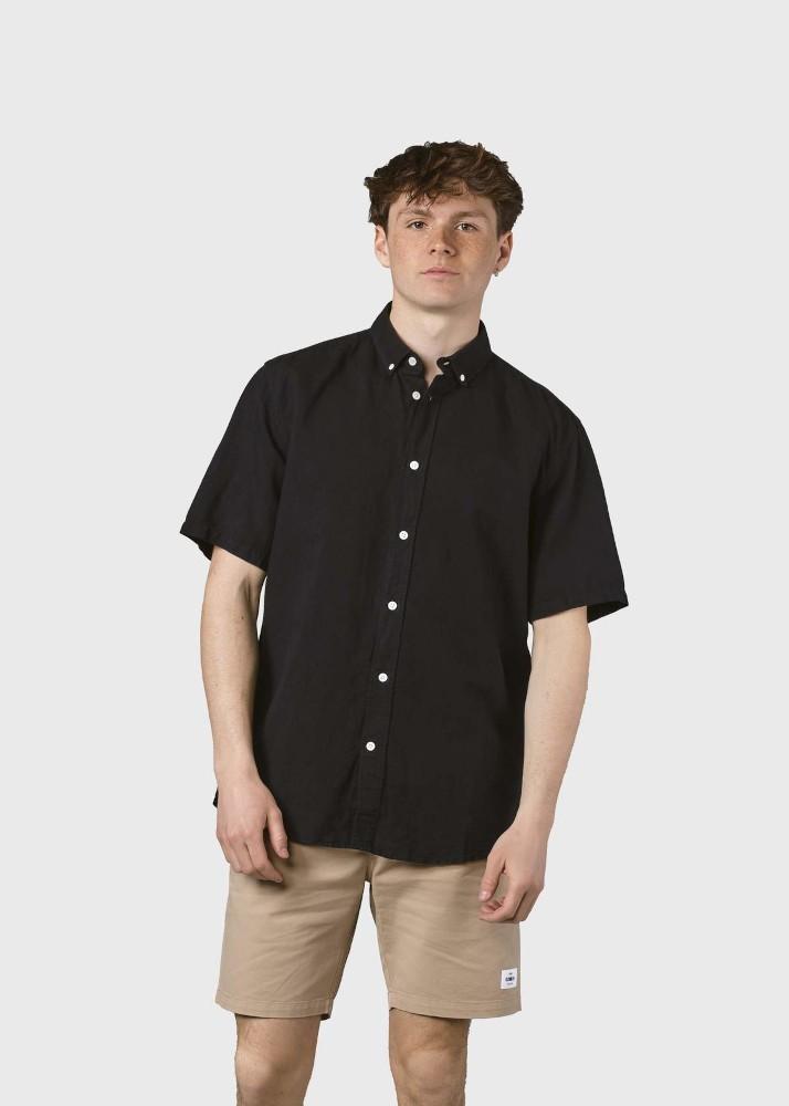 Mikkel linen shirt Black