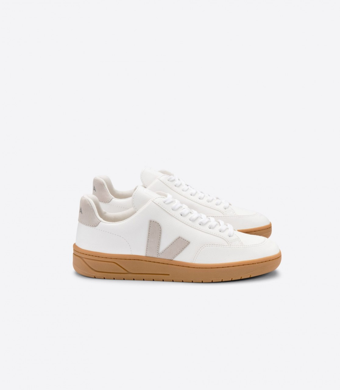 V-12 LEATHER EXTRA WHITE NATURAL GUM SOLE