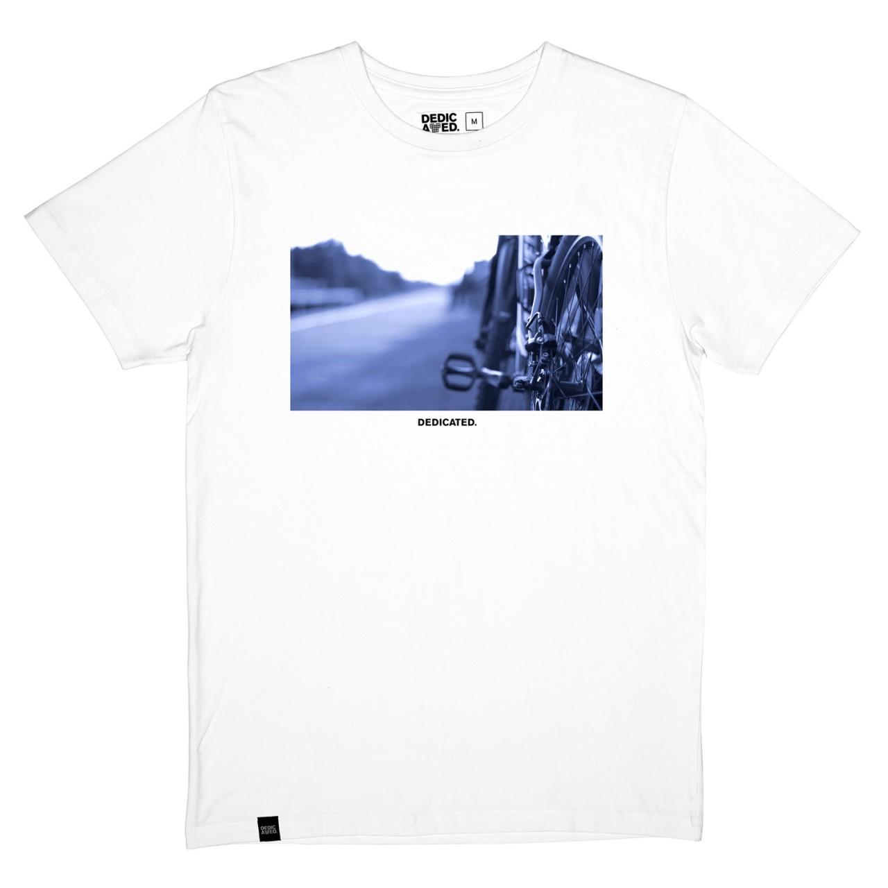 T-shirt Stockholm Bike Road White