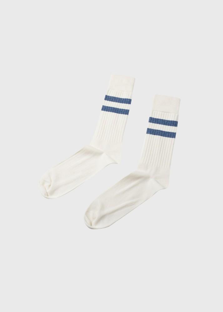 Retro cotton sock Cream/heaven