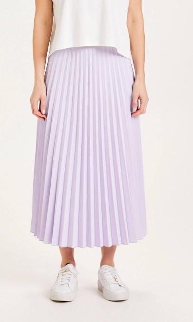 DAFFODIL pleated midi skirt - GRS/Vegan Pastel Lilac