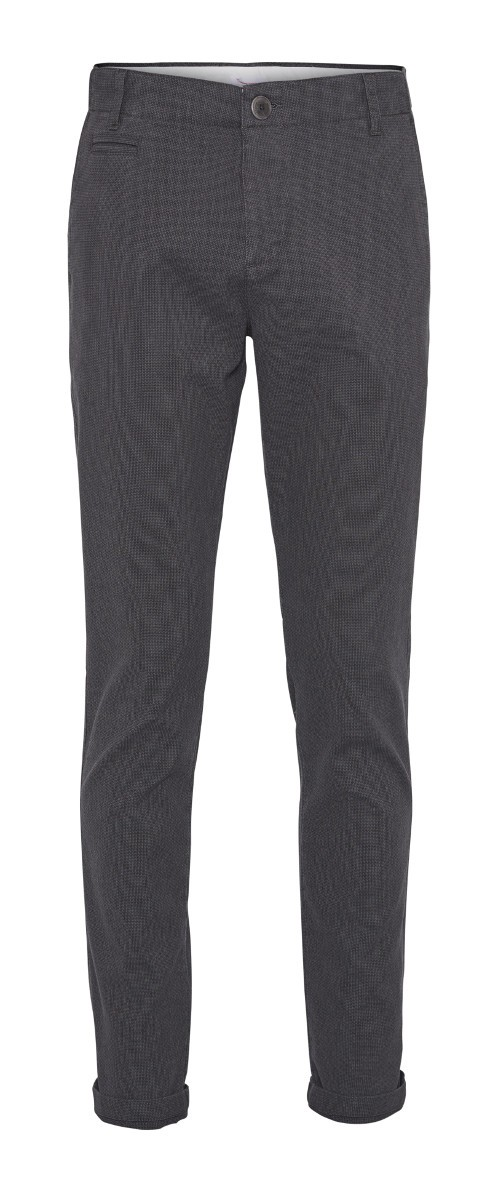JOE yarn dyed chino - Vegan Dark Grey Melange