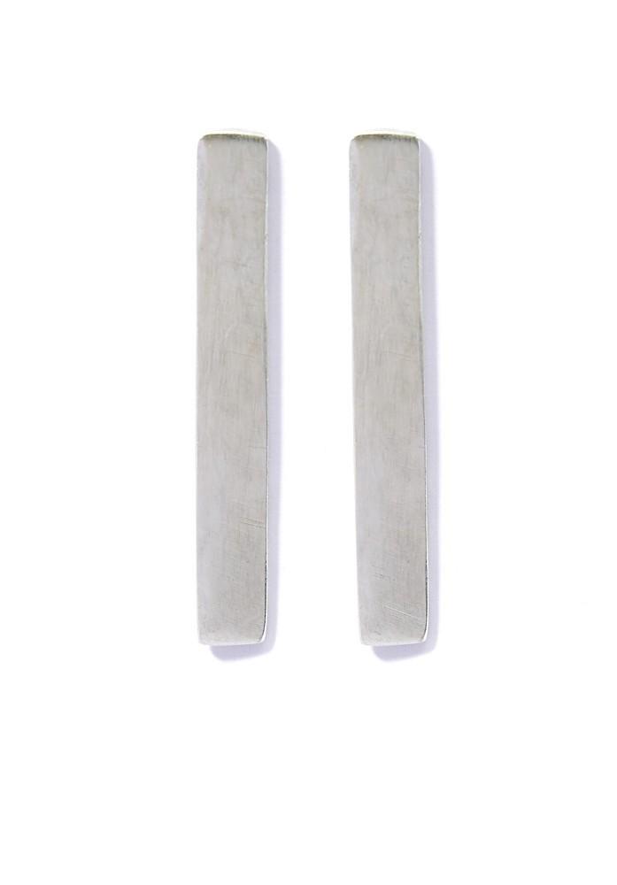 Long Bar Earrings Silver