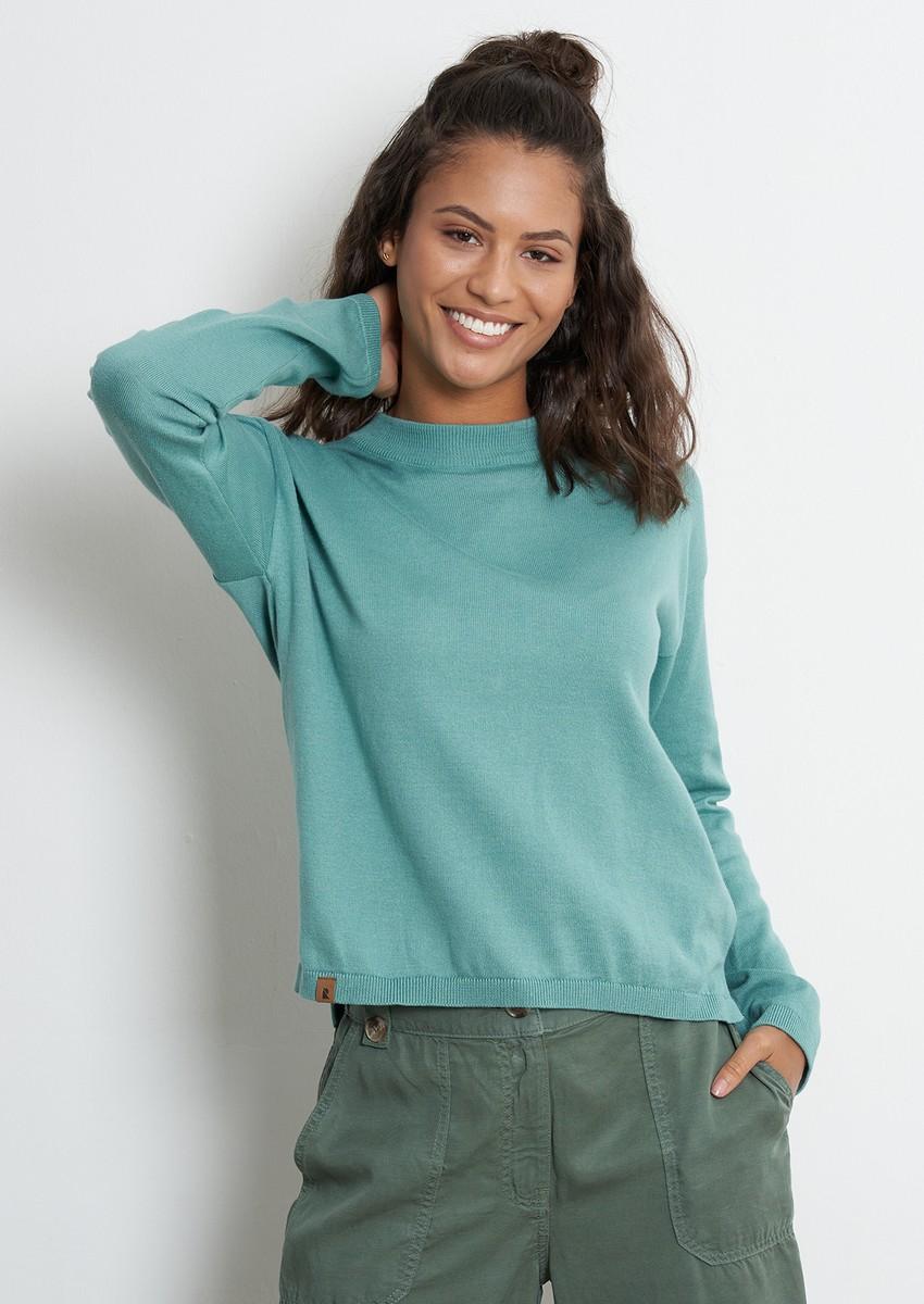 Basic Knit Crew Neck sea green