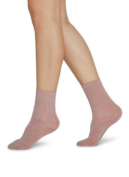 Stella Shimmery Socks dusty rose