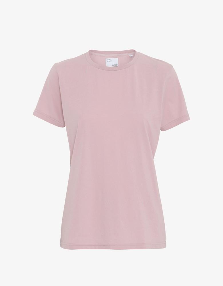 Women Light Organic Tee Faded Pink