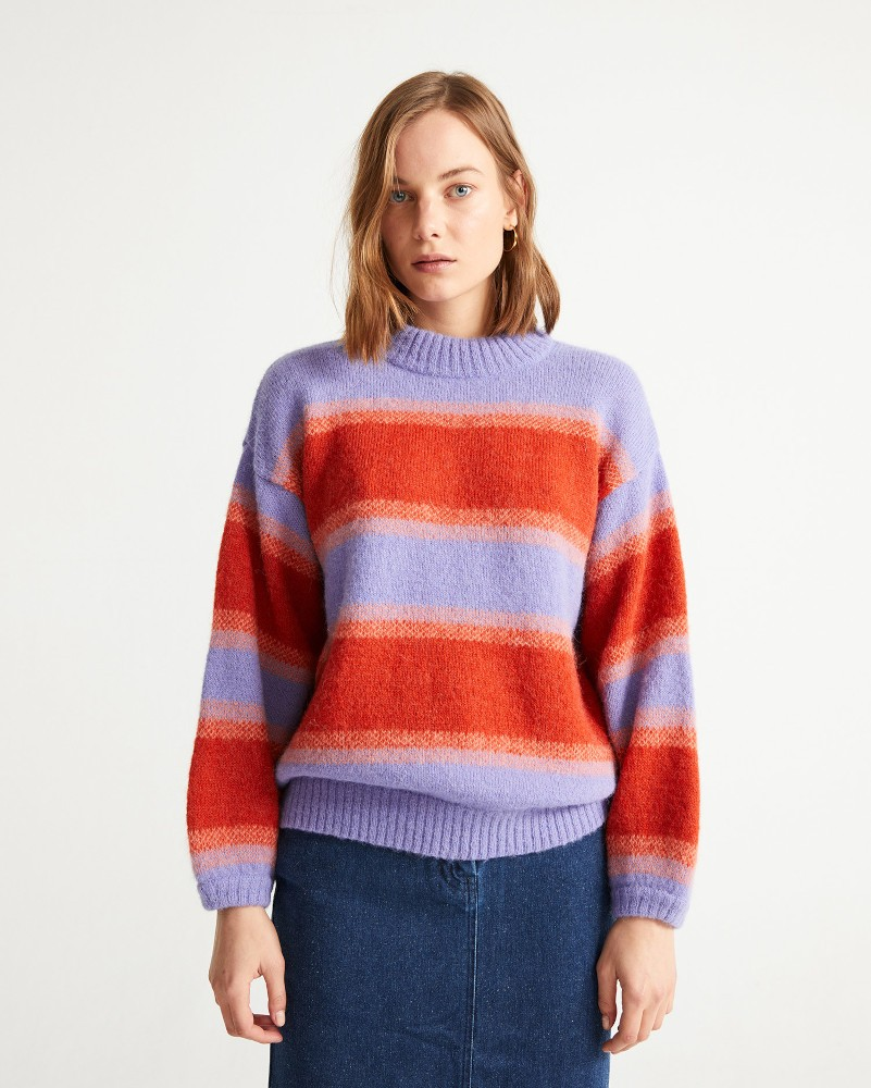 MAUVE LADA KNITTED SWEATER