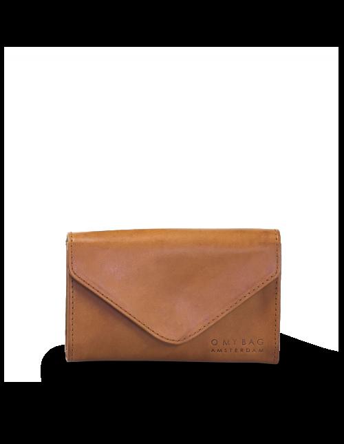 JO'S PURSE Envelope Cognac Classic Leather