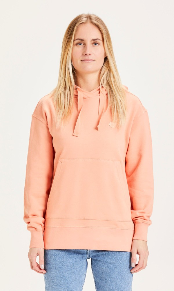 DAPHNE basic badge hoodie Shimp