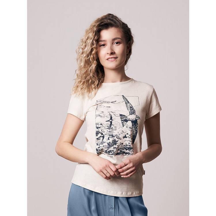 Alpine Swift Hanf T-Shirt Damen Weiß