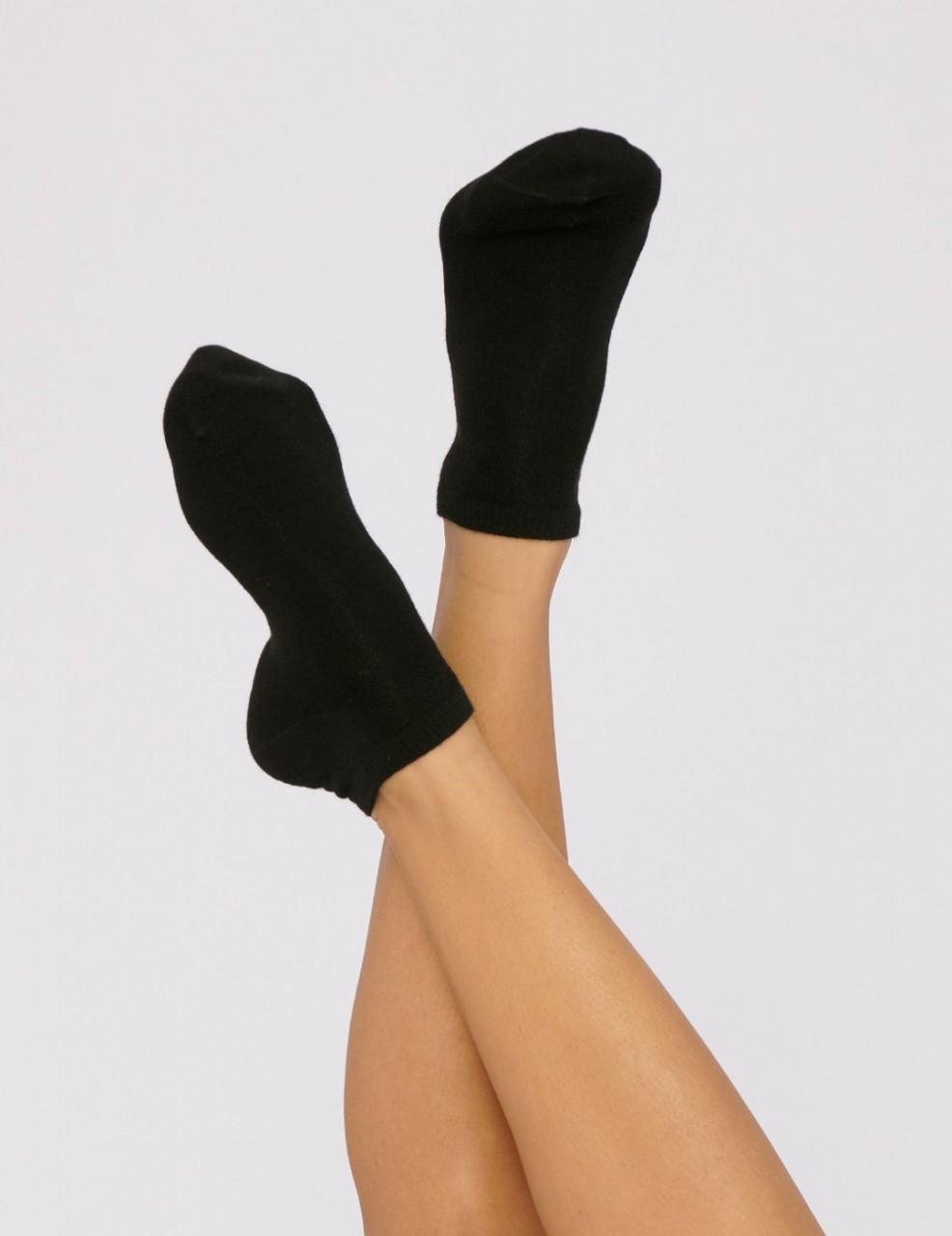 Organic Cotton Ankle Socks 2-Pack - Black