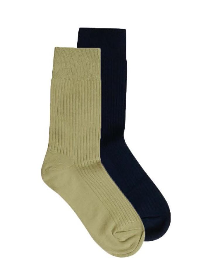 LINDEN 2-pack classic sock Sage (light usty green)