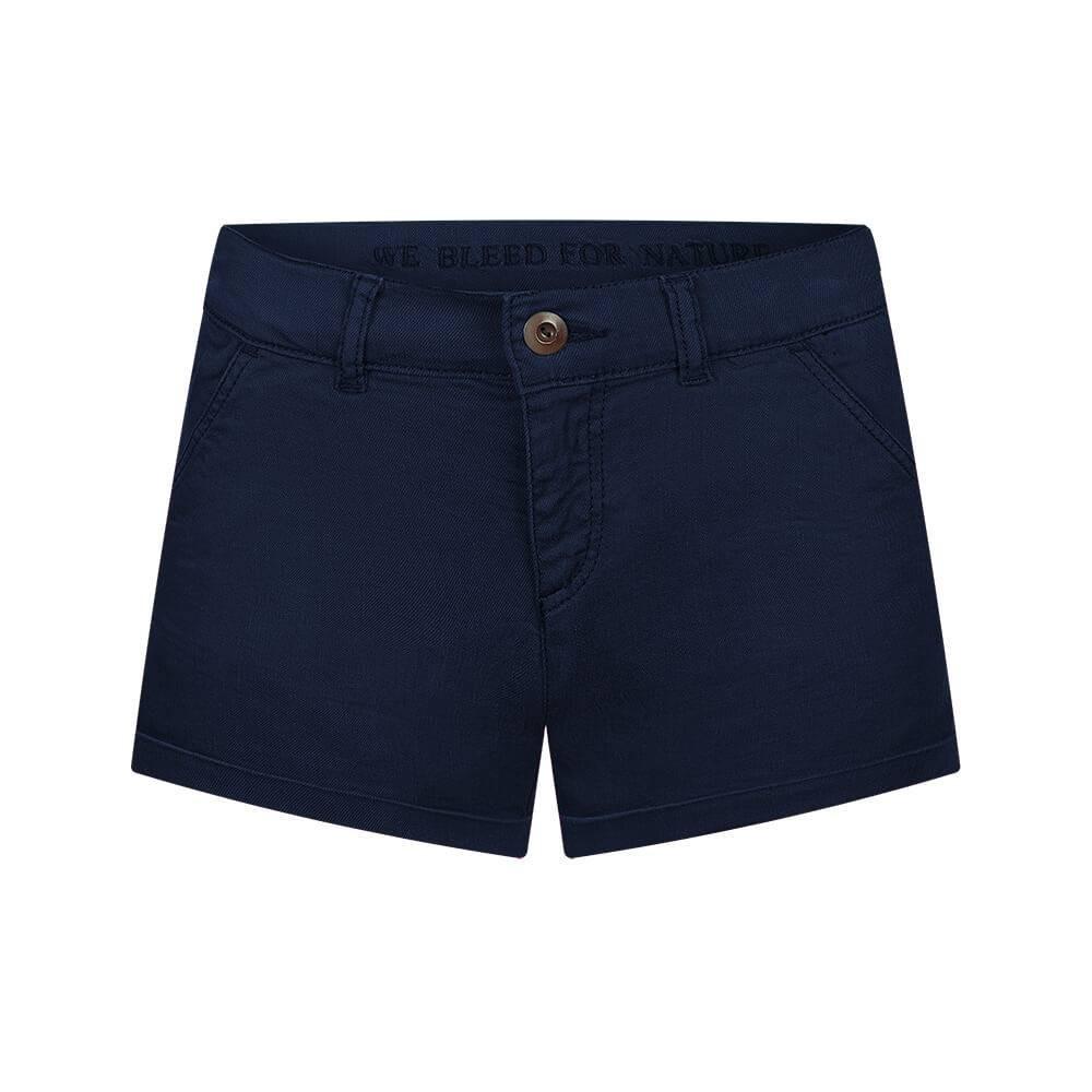 Micro-Chino Shorts Damen Dunkelblau