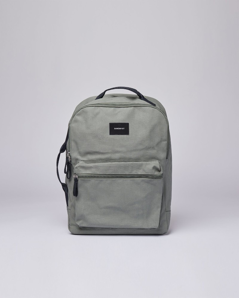 AUGUST Dusty green with Navy webbing