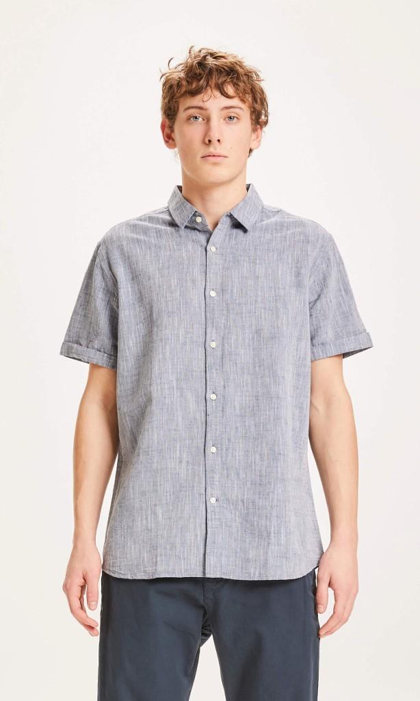 LARCH SS linen shirt Total Eclipse