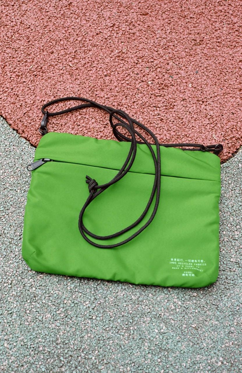 Cross Bag Green (inside Black/Grey)