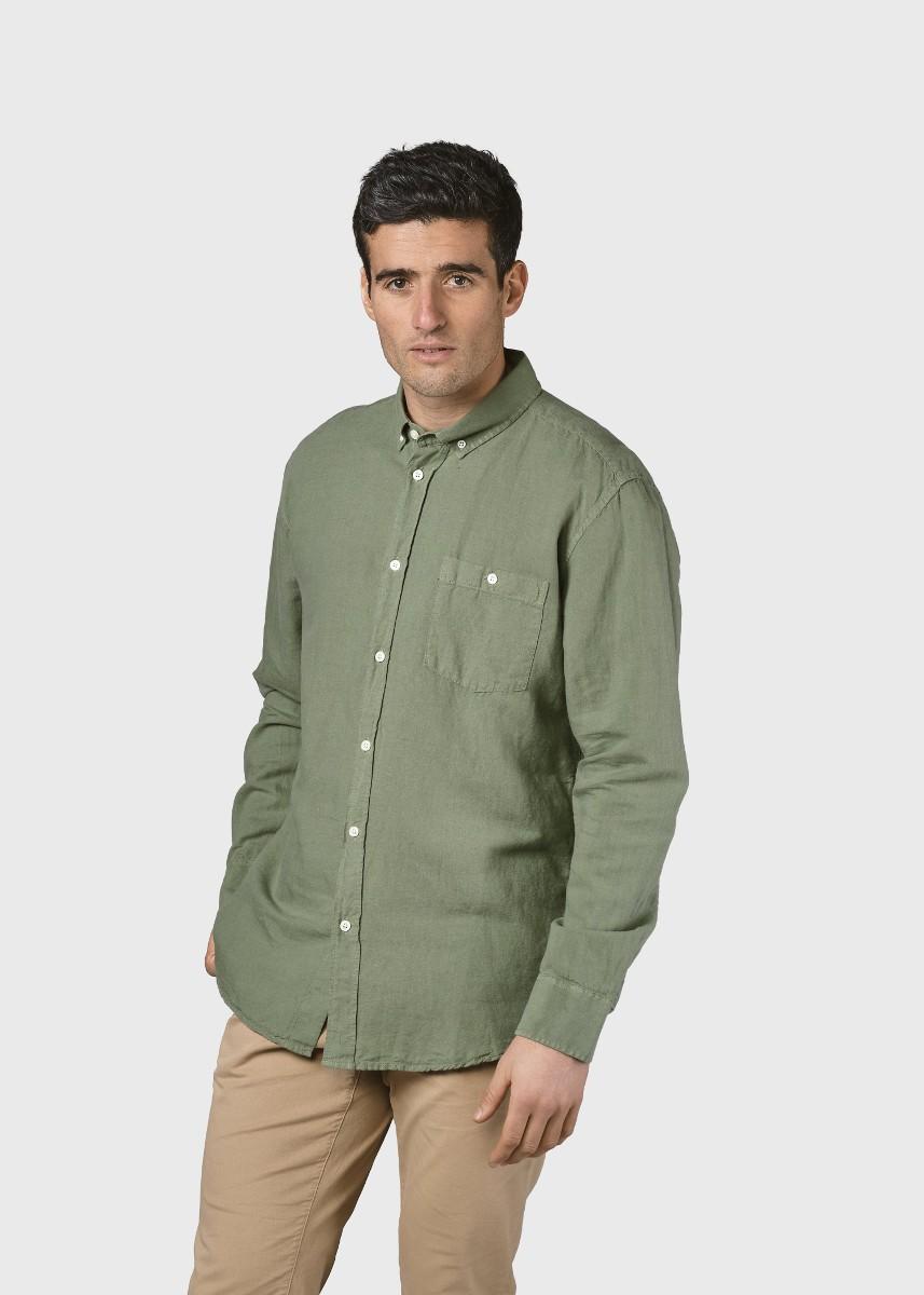 Benjamin linen shirt Pale green