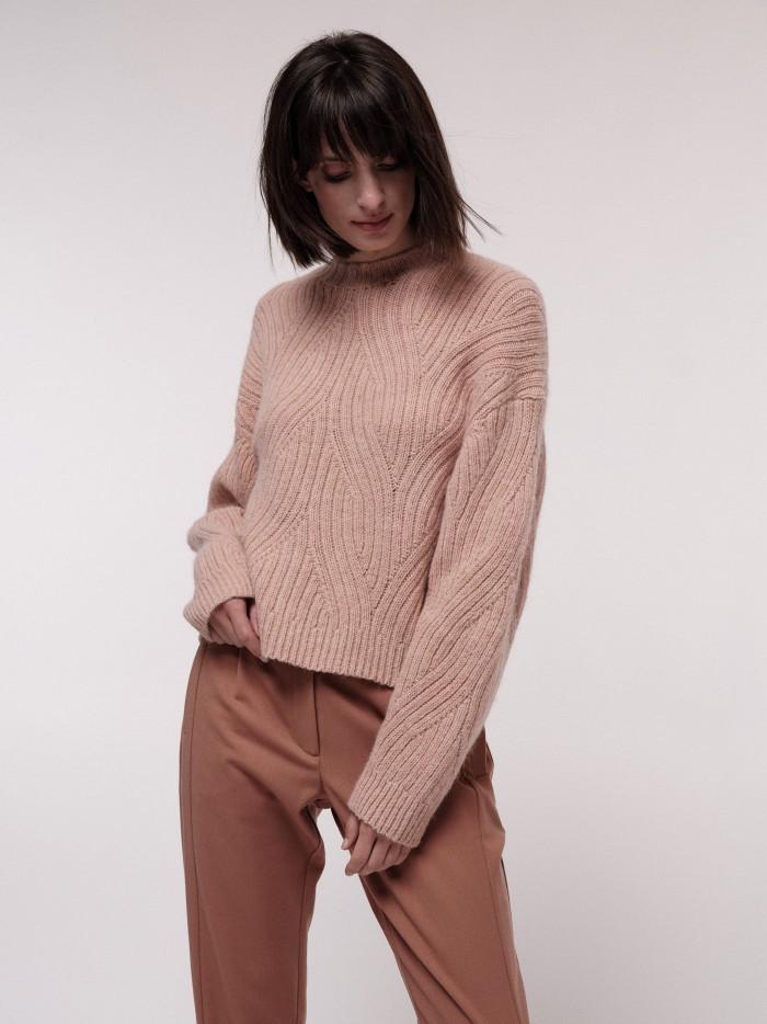 Pullover mit Rippenzopfmuster light bloom