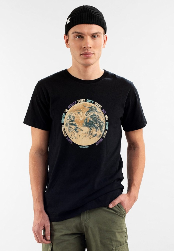 T-shirt Stockholm Earth Greed Black