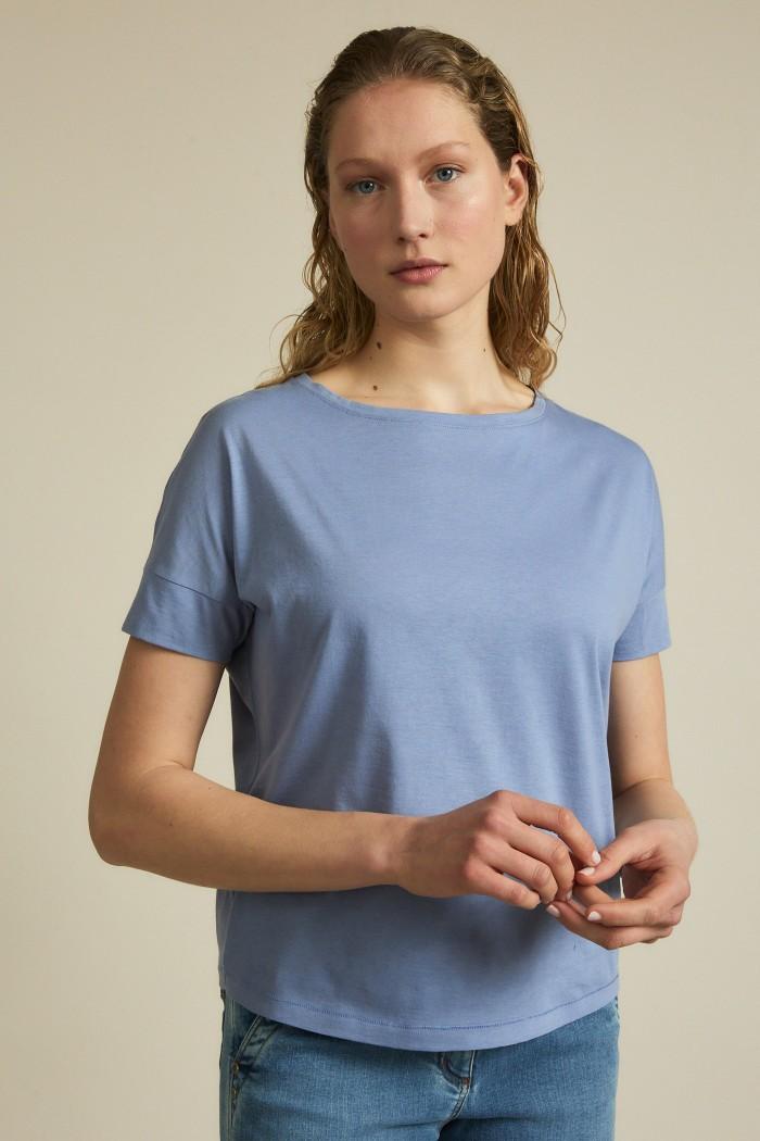 Shirt mit Ärmelblende sky