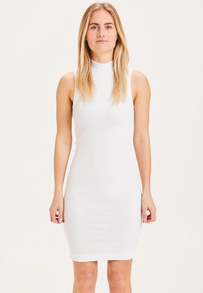 DAISY high neck tight dress - Vegan Bright White