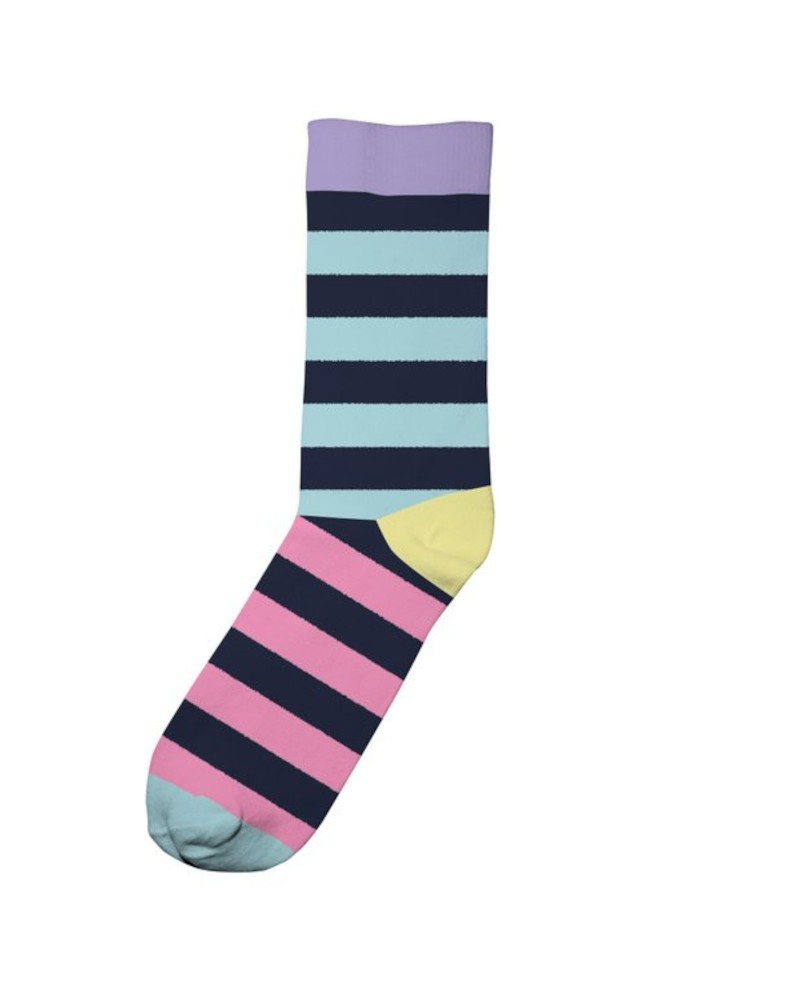 Socks Sigtuna Split Stripe Navy Pink
