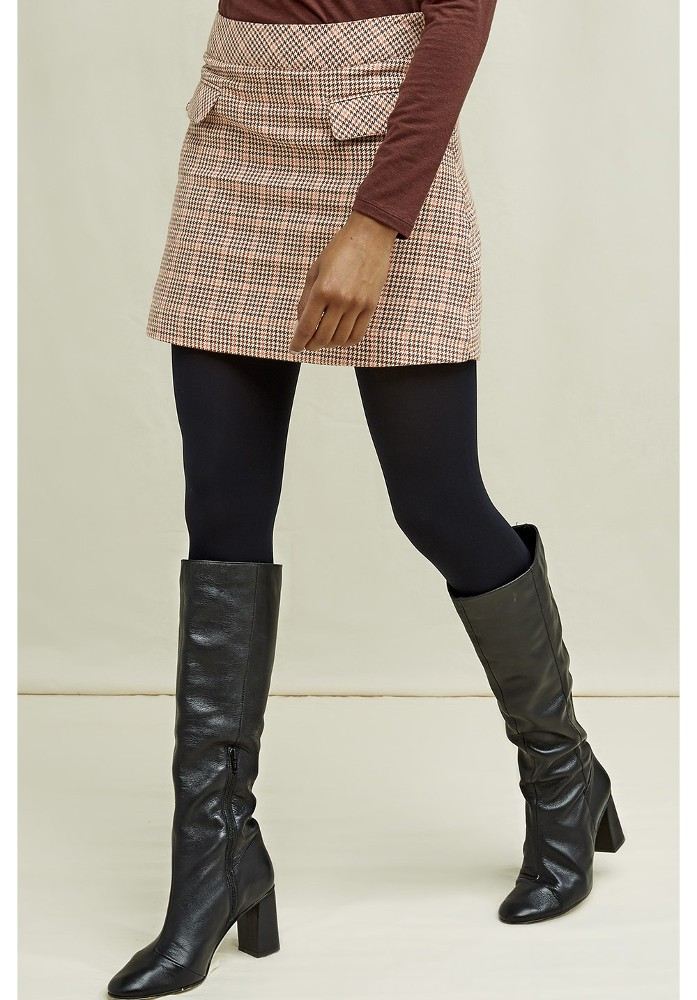 Rosa Houndstooth Skirt Brown multi